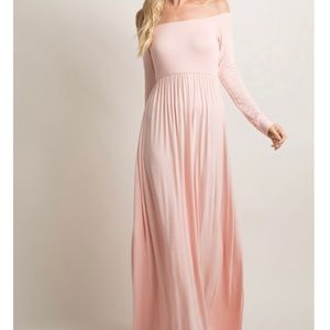 Pink Blush Maternity Maxi Dress